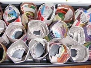 бумажные стаканчики для рассады